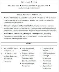 Sample Human Resource Resumes Human Resource Resume Format Best Hr Resume Format Template Human