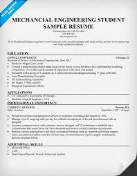 Resume Format For Mechanical Engineering Students In India Pdf