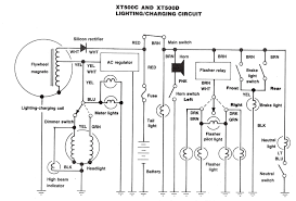 yamaha xt500 engine diagram yamaha wiring diagrams