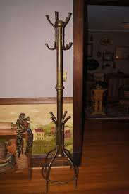 Vintage Brass Coat Rack Antique Victorian Tall Brass Hall Tree Stand Coat Rack Antique 14