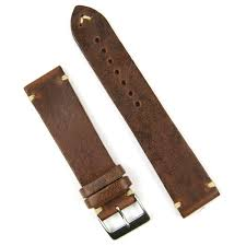 b r bands 22mm chestnut italian leather classic vintage watch band strap com