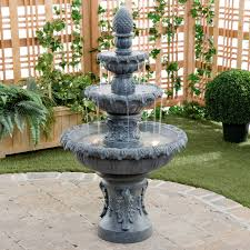 clearance outdoor water fountains hayneedle fountains large tiered outdoor fountains