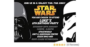 Star Wars Party Invitations Envelopes Invites K183 Personalised Click Customize Now For Prices