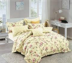 petal soft orchid fl king size 100 cotton bedding set 6 piece set