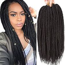 Croshay Hairstyles 39 Awesome VRHOT 24Packs 24'' Box Braids Crochet Hair Small Synthetic Hair