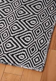 Black Patterned Rug