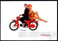 vintage honda motorcycle ads. 1964 honda 90 motorcycle woman with long legs photo vintage print ad ads