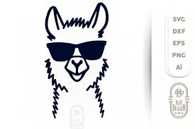 Free vector icons in svg, psd, png, eps and icon font. Llama Svg Cut File Lama Head Svg Illustration
