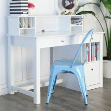 amazoncom white wood deluxe storage computer desk with hutch
