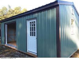 12x24x8 Storage Shed With Garage Door