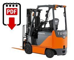 Toyota 7FBCU15 forklift parts manual   Download PDF forklift manual
