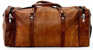 vintage leather travel duffle weekend