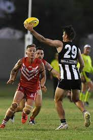 AFL CAPRICORNIA GRAND FINAL: Panthers' Corey Hawke with the ball   Buy  Photos Online   Whitsunday Times