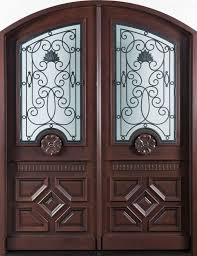 mahogany solid wood front entry door double