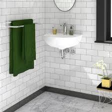 compact 500 wall hung bathroom sink
