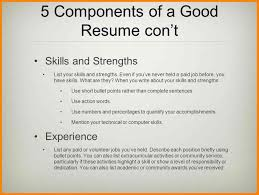 12 Resume Components The Stuffedolive Restaurant