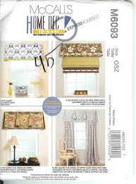 Curtain Sewing Patterns Cool OOP McCalls Sewing Pattern Window Treatment Curtains Toppers Drapery