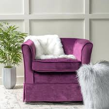 purple chair and ottoman armchair with accent velvet tufted occasional