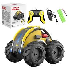 1:24 Amphibious Rolling <b>Remote Control RC Stunt</b> Car Vehicle <b>Toy</b>