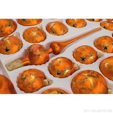39 Tlg Glas Weihnachtskugeln Set In Ice Orange Gold