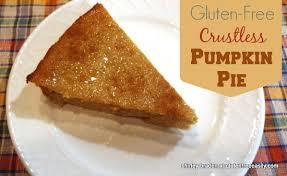 crustless gluten free pumpkin pie