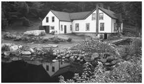 culture of history people traditions women beliefs a house and pond in rural nova scotia most canadians live in private homes