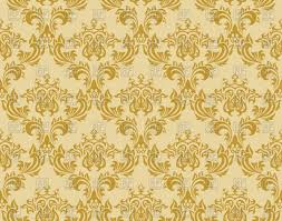 Gold Damask Background Damask Seamless Gold Pattern Stock Vector Image