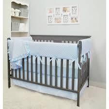 american baby company heavenly soft 6 piece crib rail bedding set blue for boys and girls com