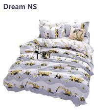 ahsnme boy bedding set construction vehicles duvet cover engineering tools bedlinens child birthday gift bedspreads queen comforter daybed bedding sets from