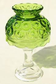 moon stars glass shade candle lamp vintage candlestick w green glass lampshade