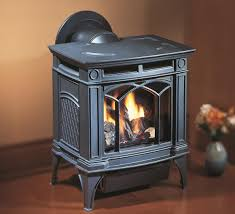 hampton h15 small gas stove in charcoal grey finish