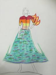 Fashion Design For High School Students 3rd Grade Fashion Design By My Student Middle School Art