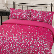 dreamscene gorgeous glitz diamond sparkle duvet cover bedding set pink double 200 x 200 cm co uk kitchen home