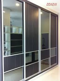 Sliding Mirrored Closet Doors For Bedrooms Sliding Closet Doors Wood Glass And Wood Sliding Closet Doors