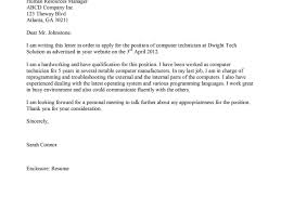 Leading Professional Computer Repair Technician Cover Letter It