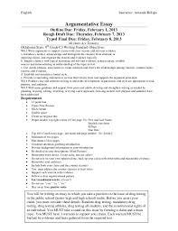 argumentative essay assignment details english instructor amanda billups argumentative essay outline due friday 1 2013