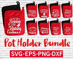 What can be described as festive mood better than this tool? Set Of 9 Pot Holder Svg Bundle Funny Pot Holder Designs Christmas Vector Files Dish Towel Cricut Christmas Ideas Christmas Gift Tags Free Christmas Pots