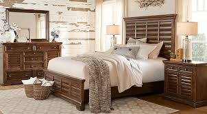Cindy Crawford Home North Haven Brown 7 Pc Queen Panel Bedroom