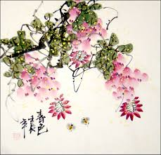 to enlarge chinese brush painting flowers