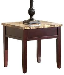faux marble end table faux marble top end table in rich cherry faux marble table top round