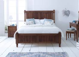 new england style shaker bed in natural wood with bedroom furniture