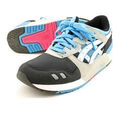 reebok 023501. asics gel-lyte iii gs youth us 6 black running shoe pre owned 1692 reebok 023501