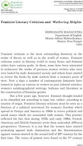 Feminist Literary Criticism And Wuthering Heights Pdf