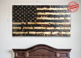 rustic american flag picture