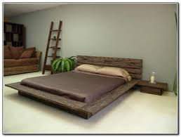 Cool Bed Frames Low Platform Bed Natural Wooden Queen Size Frame