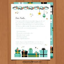 Template Of A Letter To With Decorations Vector Free