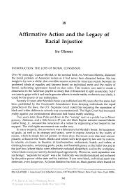 affirmative action and the legacy of racial injustice springer inside