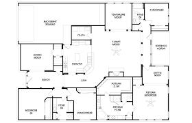 fea image of modern 4 bedroom house floor plans