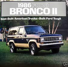 ebay com  1986 ford bronco ii suv new vehicle brochure
