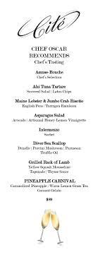 Chefs Tasting Menu Cité Downtown Chicago Restaurants Cité